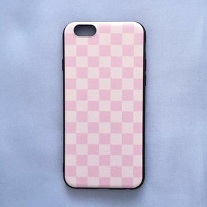 Pink Checkered / Grid iPhone 6 / iPhone 6S Case